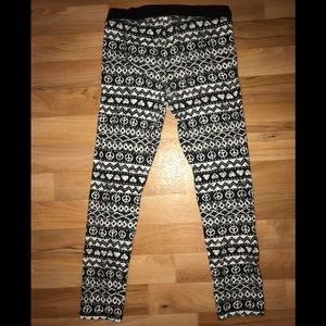 Kids black and white patterned joggers